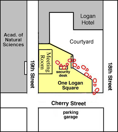 close-in map of One Logan Square